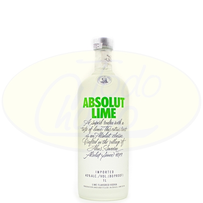 Bild von Vodka Absolut Lime 1litro
