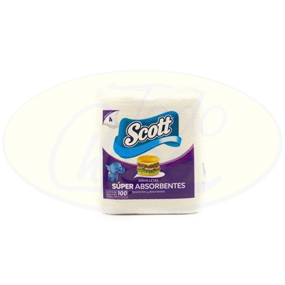 Picture of Servilletas Scott 100 Unidades 20,6 x 21,5 cm