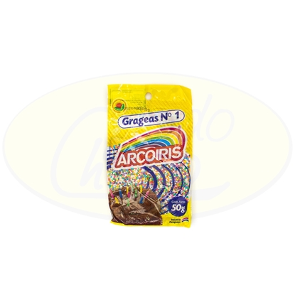 Picture of Confites Grageas N1 Multicolores Arcoiris 50g