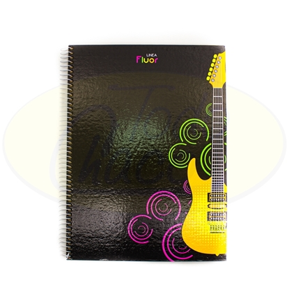 Picture of Cuaderno Fluor Tapa Dura 96Hojas 1Raya