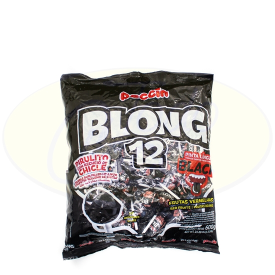 Picture of Chupetines Blong 12 Peccin Black Frutas 600g