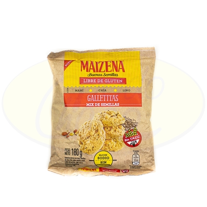 Picture of Galletita Maizena Mix Semillas Sin Gluten 180gr