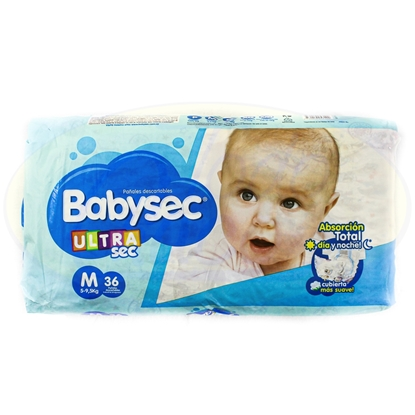 Picture of Pañal Absorcion Total Ultra Seca Babysec Mediano 36 Unidaes