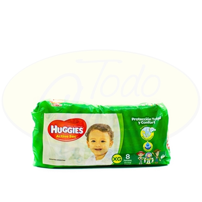 Picture of Pañal Active Sec Huggies Extra Grande 8 Unidades