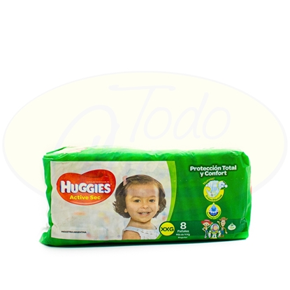 Picture of Pañal Active Sec Huggies XXGrande 8 Unidades