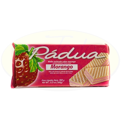 Picture of Galletitas Wafer Padua Morango 100g
