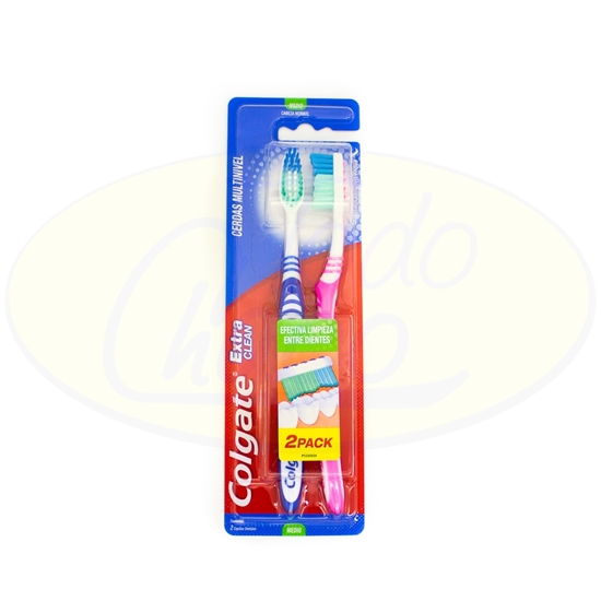 Picture of Cepillo Dental Colgate Extra Clean 2x1