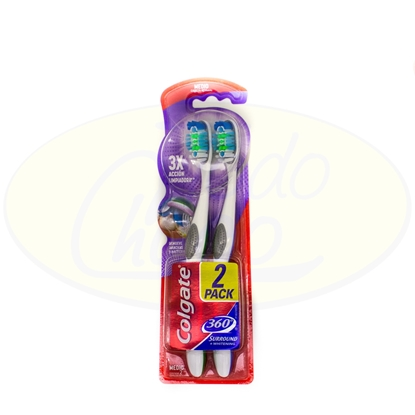 Bild von Cepillo Dental Colgate 360º Surround 2x1