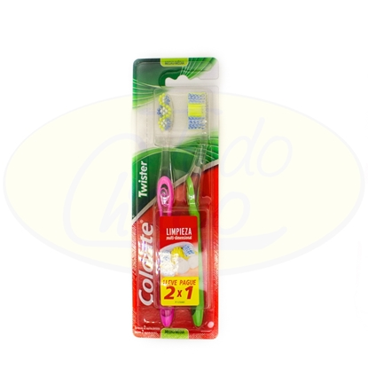 Bild von Cepillo Dental Colgate Twister Medio 2x1