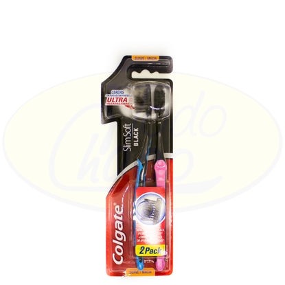 Bild von Cepillo Dental Colgate Slim Soft Black 2x1
