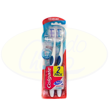 Bild von Cepillo Dental Colgate 360° Sensitive 2x1