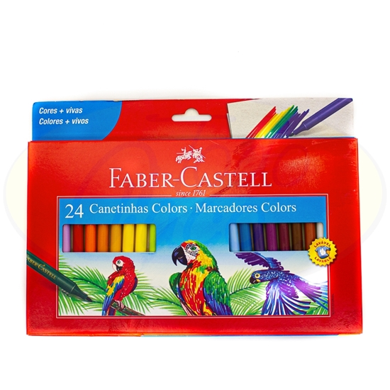 Picture of Marcador Faber Castell 24 Colores