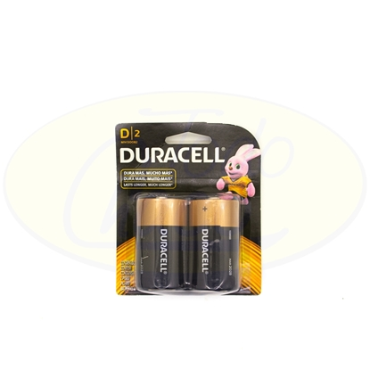 Picture of Pila Alcalina D Duracell x 2