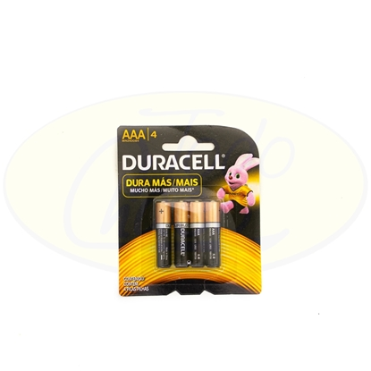 Picture of Pila Alcalina Duracell AAA x 4