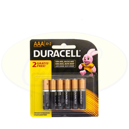 Picture of Pila Alcalina Duracell AAA 4+2