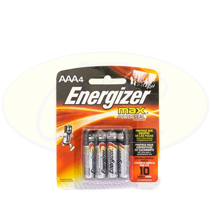 Picture of Pila Alcalina Energizer Max AAA x 4