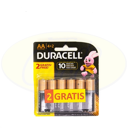 Picture of Pila Duracell AA x 4+2