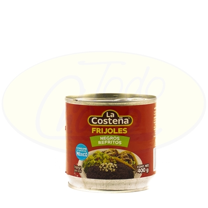 Picture of Frijoles Negros Refritos LaCosteña 400gr