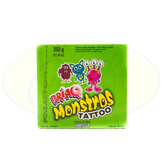 Picture of Chicle Brinq Menta Tattoo Monstruos  350g