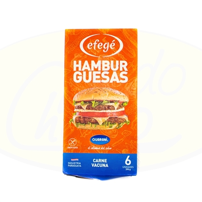 Picture of Hamburguesa Efege Guarani 24x6 400g
