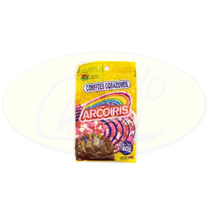 Picture of Confites Corazon Multicolor Arcoiris 40g