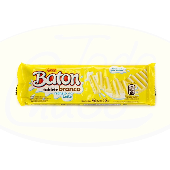 Picture of Chocolate Garoto Tableta Baton Blanco 96g