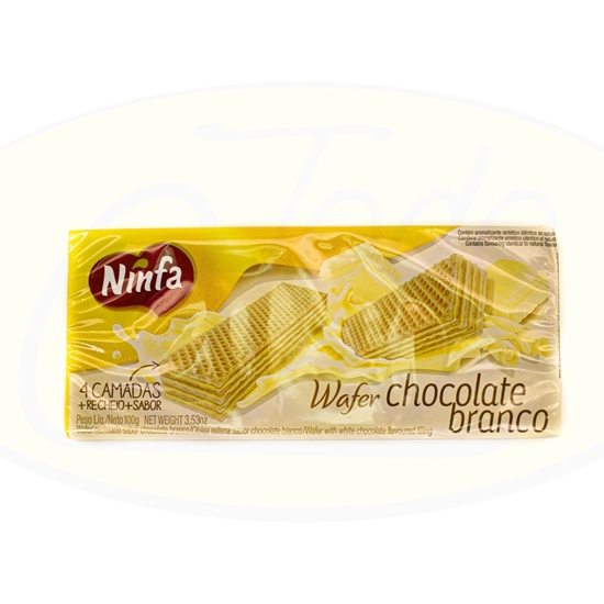 Imagen de Galletitas  Wafer Chocolate Blanco Ninfa 100g