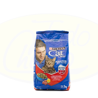 Picture of Purina Cat Chow Adultos Delicias De Carne 1Kg
