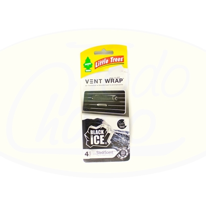 Imagen de Aromatizante Para Auto Vent Wrap Black Ice Little Trees 4u