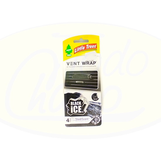 Bild von Aromatizante Para Auto Vent Wrap Black Ice Little Trees 4u