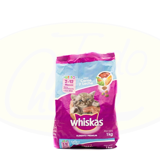 Picture of Whiskas Gato Carne Y Leche 1kg
