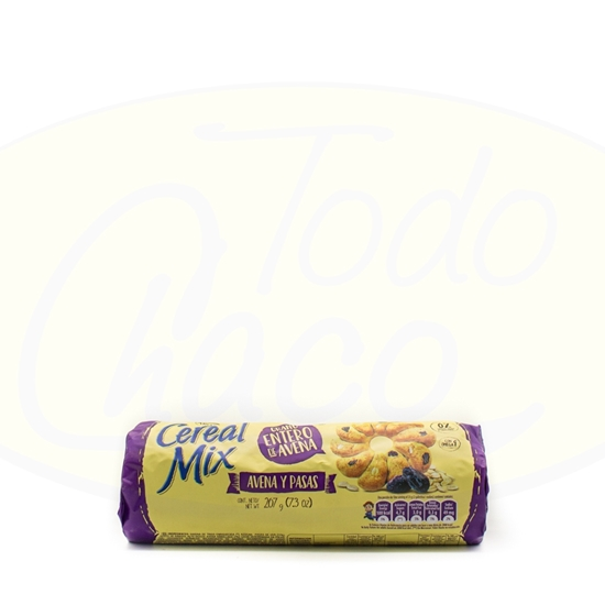 Picture of Galletitas Cereal Mix Avena y Pasas 207g