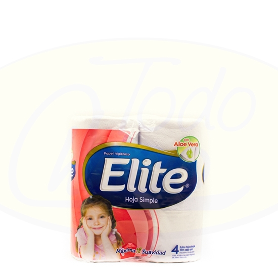 Bild von Papel Higienico Elite Simple Aloe x 4