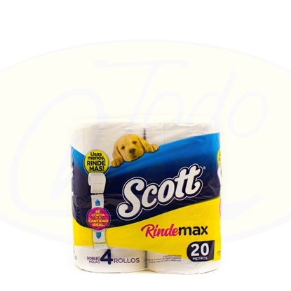 Picture of Papel Higienico Doble Hoja Scott Rindemax 4 x 20mts