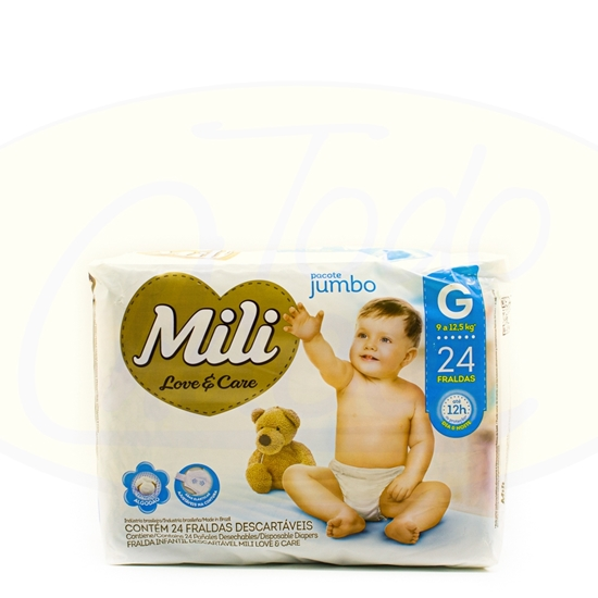 Picture of Pañales Mili Love & Care Jumbo G 9X24