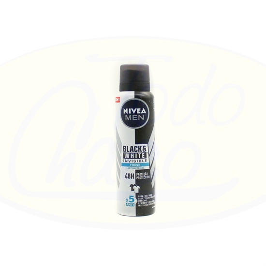 Picture of Desodorante En Aerosol Nivea Men Black & White Fresh 150ml
