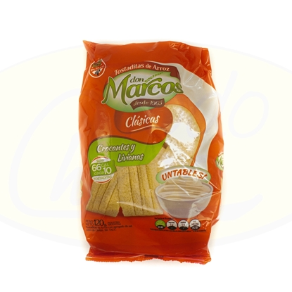 Picture of Tostaditas de Arroz Clasicos Don Marcos 120g