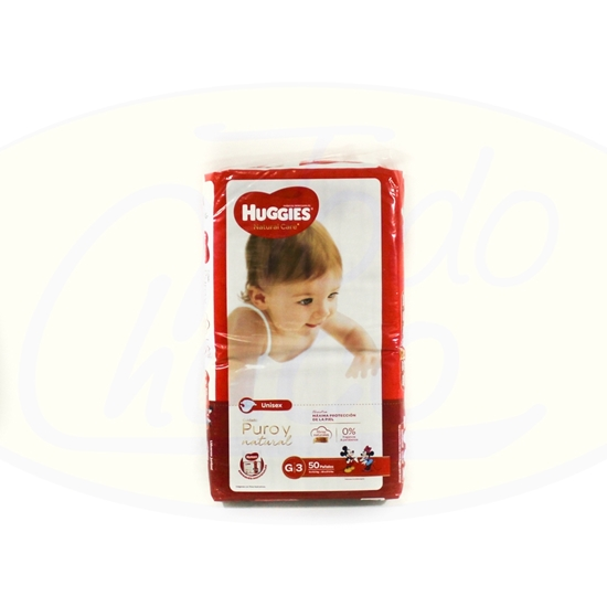 Picture of Pañal Huggies Natural Care Grande 50 unidades