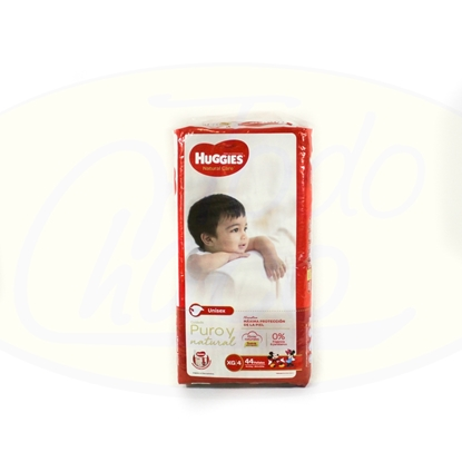 Bild von Pañal Huggies Natural Care XG 44unidades