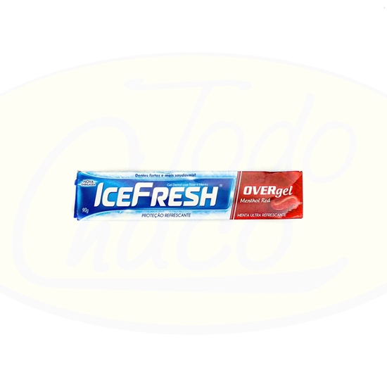 Bild von Gel Dental Ice Fresh Over Mentol Red 90g