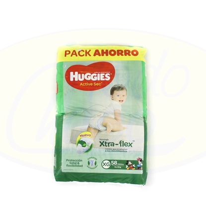 Picture of Pañal Huggies XG Active Sec Extra-Flex 58u
