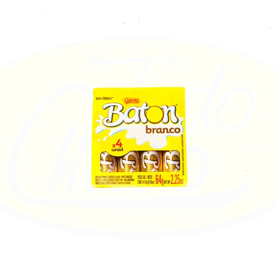 Picture of Chocolate Baton Garoto Blanco 4 unidades 64g